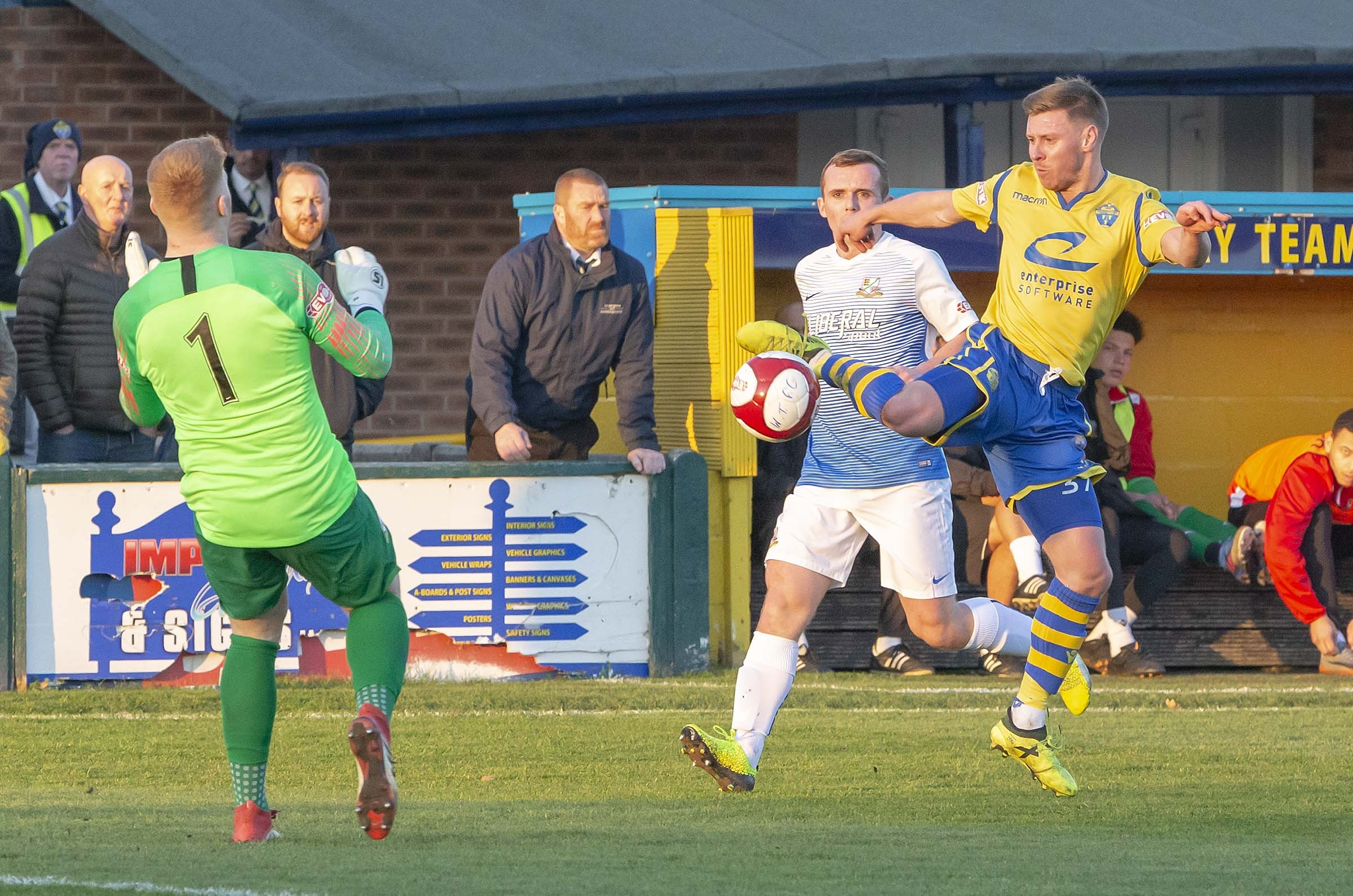 Yellows drew 1-1 with Basford at Cantilever Park on October 17. Picture by John Hopkins