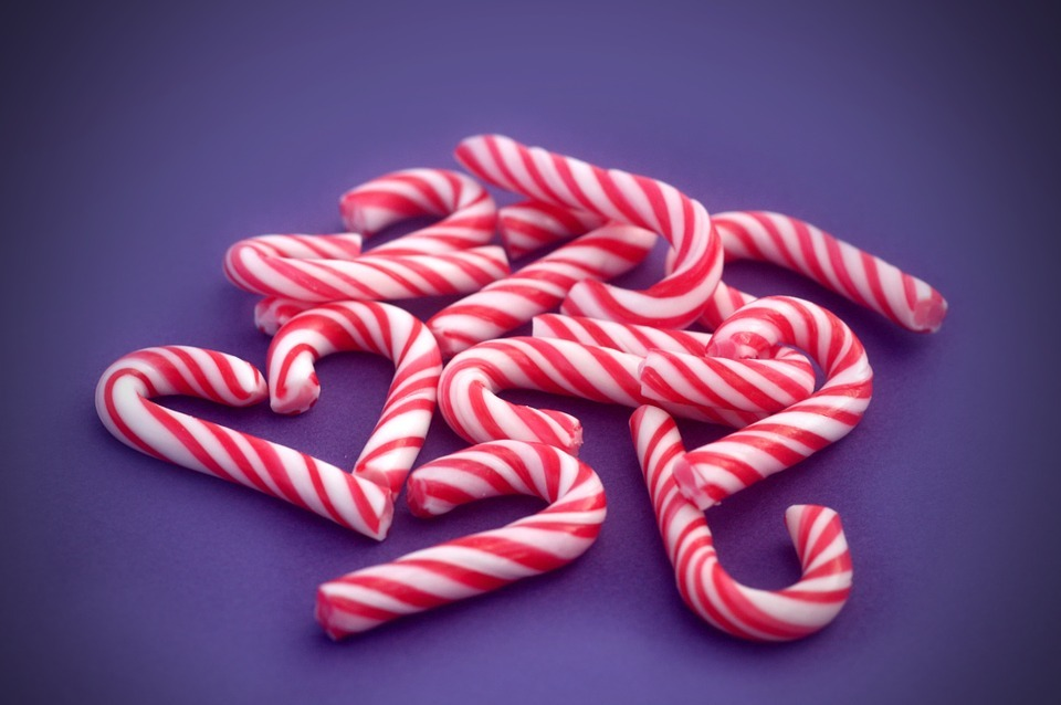 Candy canes have been hidden among the aisles in Asda