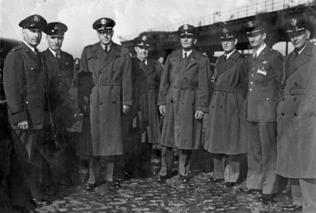 Officers pictured on March 7, 1952
