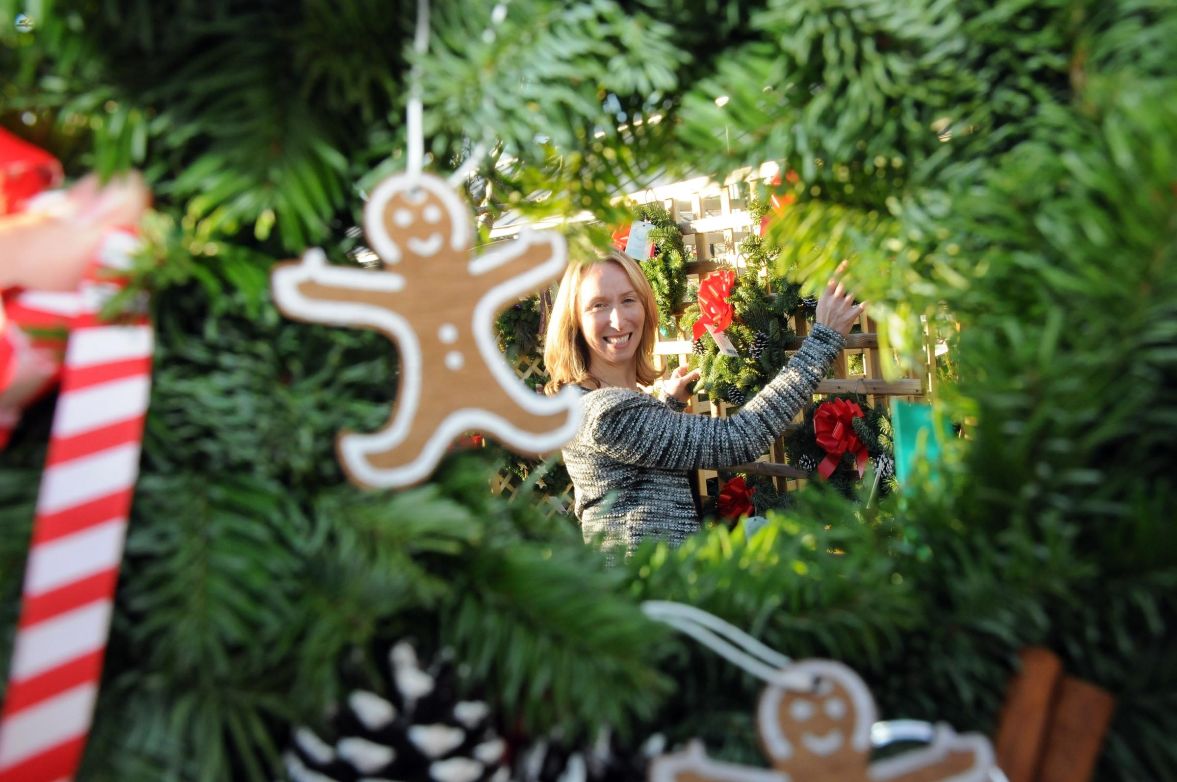 Jill Kerr shares her Christmas musts for the festive season including poinsettias and real Christmas trees 								              Picture: Dave Gillespie