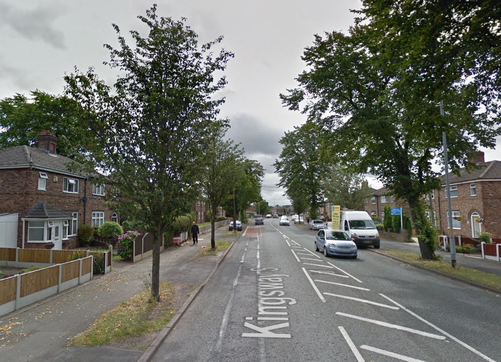 Cheshire Police were called to a burglary on Kingsway South today, Wednesday. Picture by Google Maps.