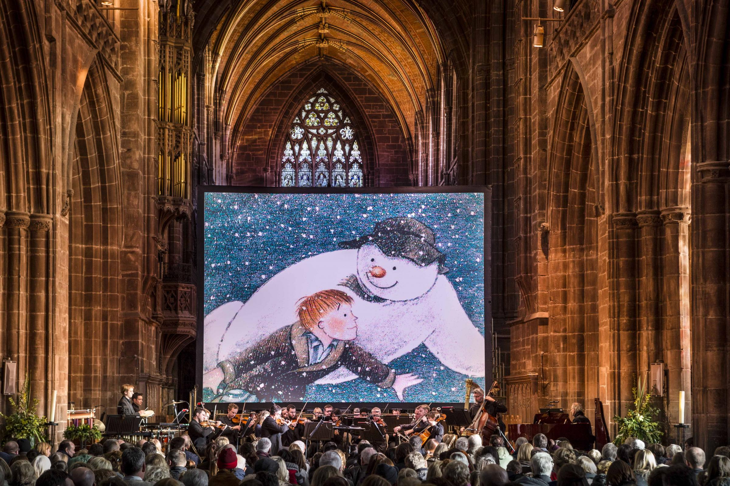The Snowman at Chester Cathedral 	            Picture: Tom Bangbala/Snowman Enterprises