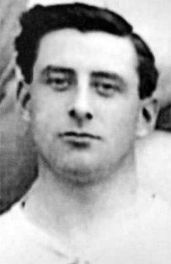 Ted Bullen, who made 188 appearances for Bury Football Club over nine seasons from 1906