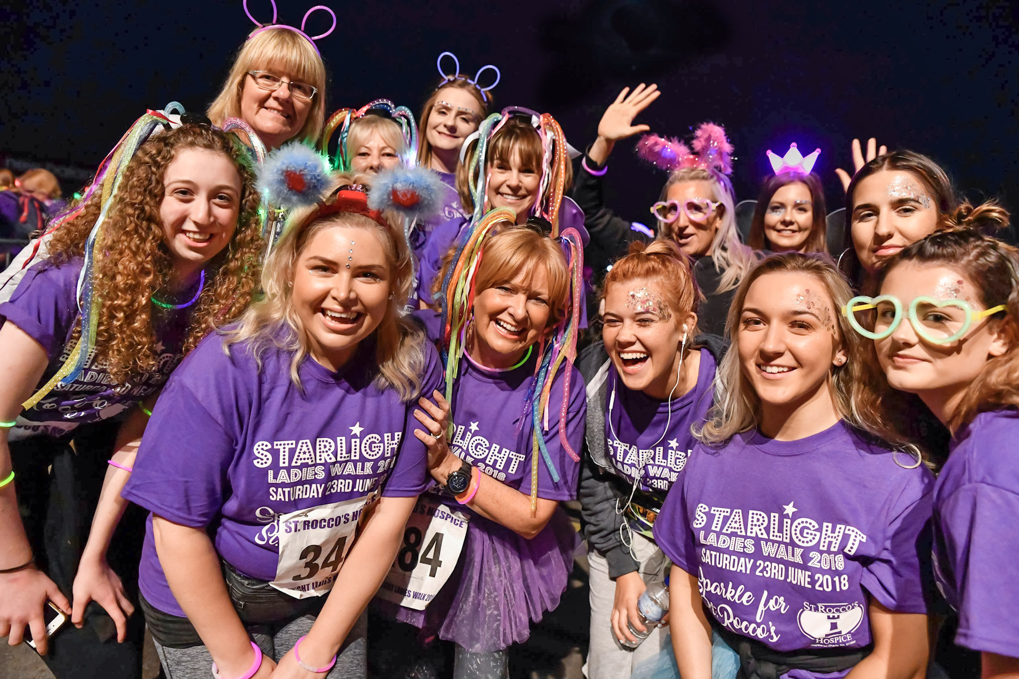For the first time ladies will be walking past St Rocco's Hospice