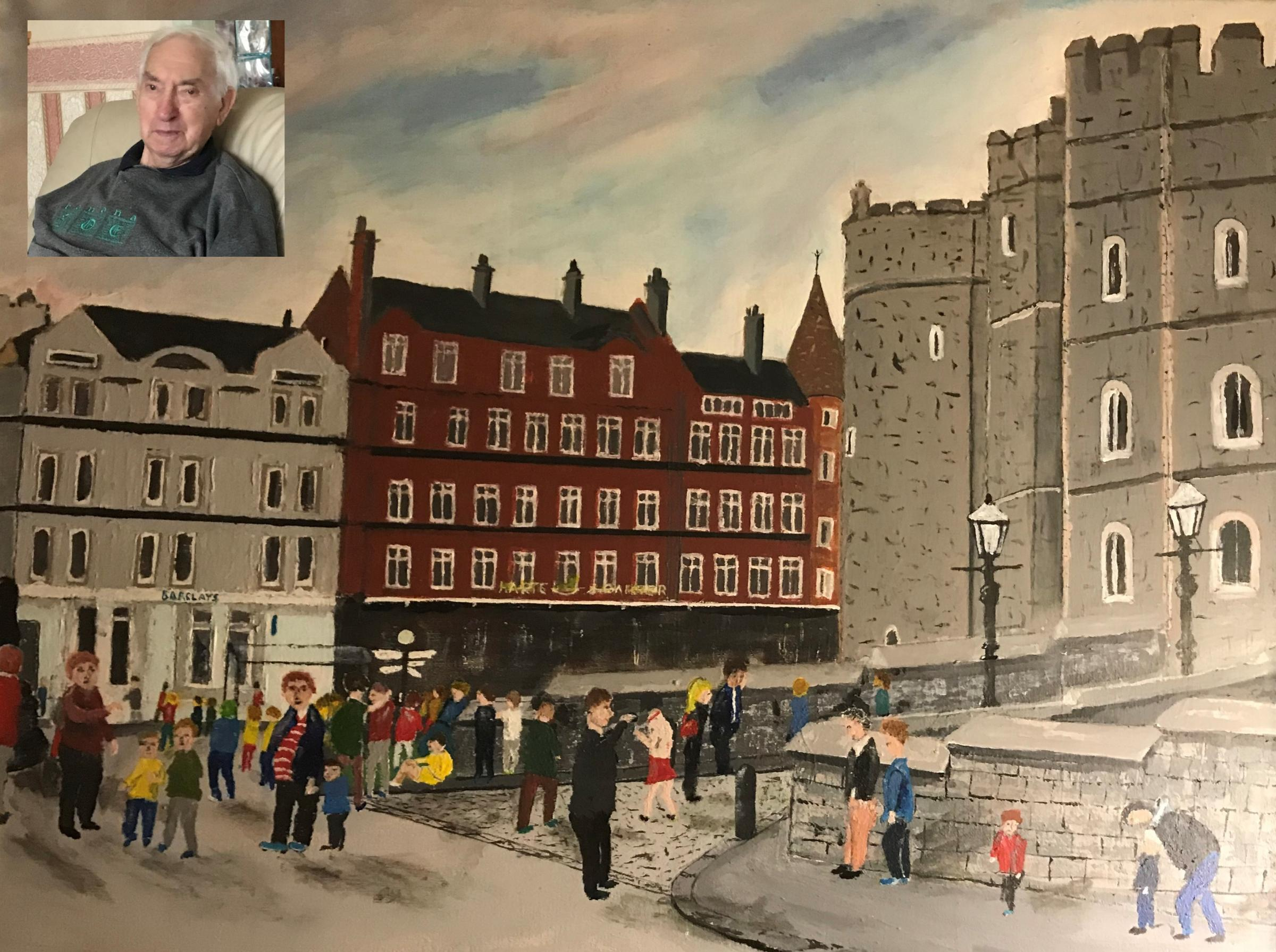 Former milkman gives up painting after more than 60 years