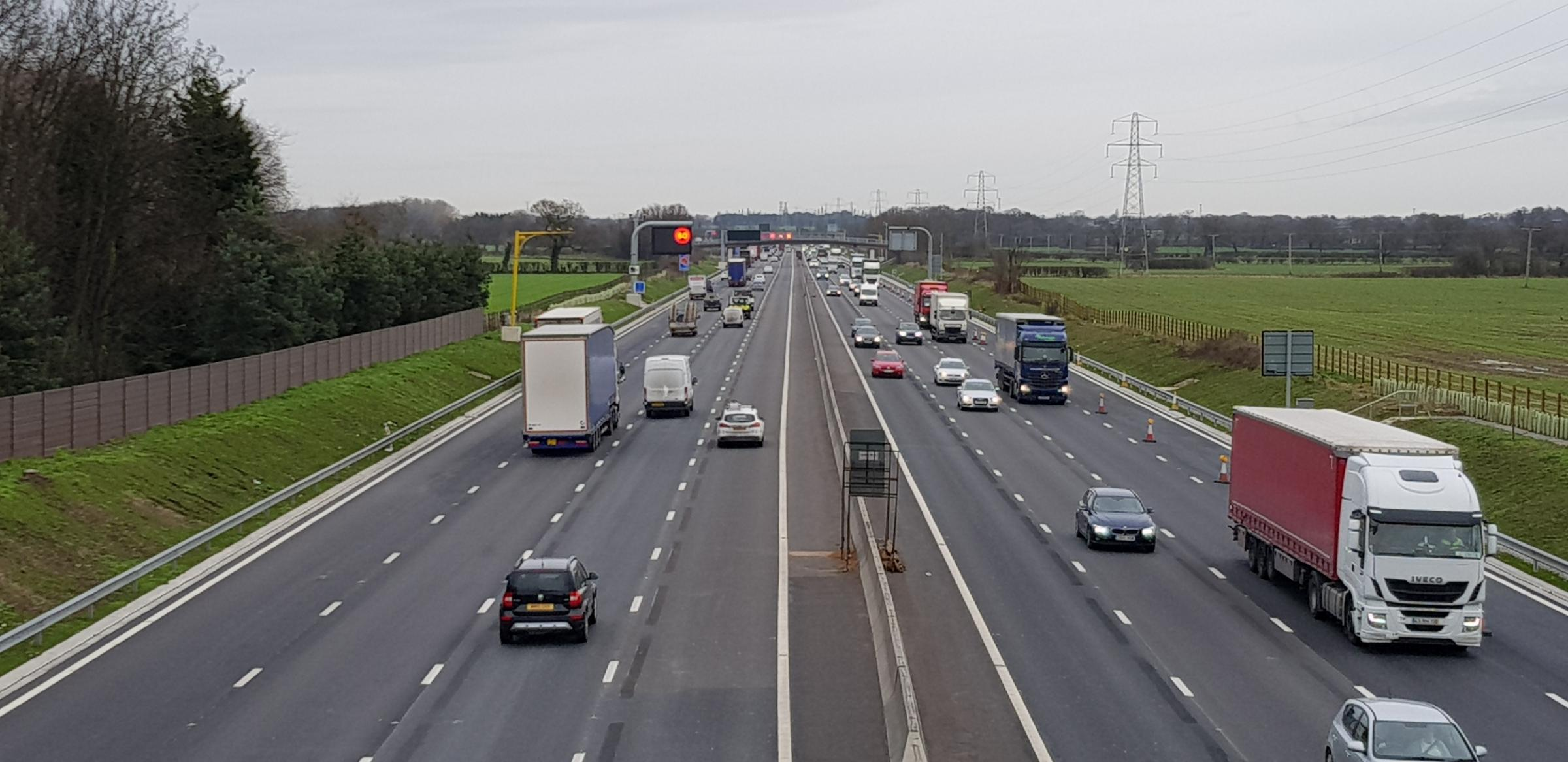 Extra lanes of the M6 are open from today, Friday, following roadworks.