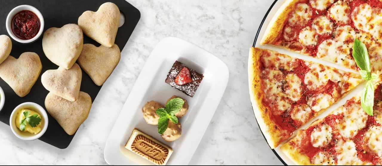 Valentine's Day restaurant deals including heart-shaped dough balls at Pizza Express