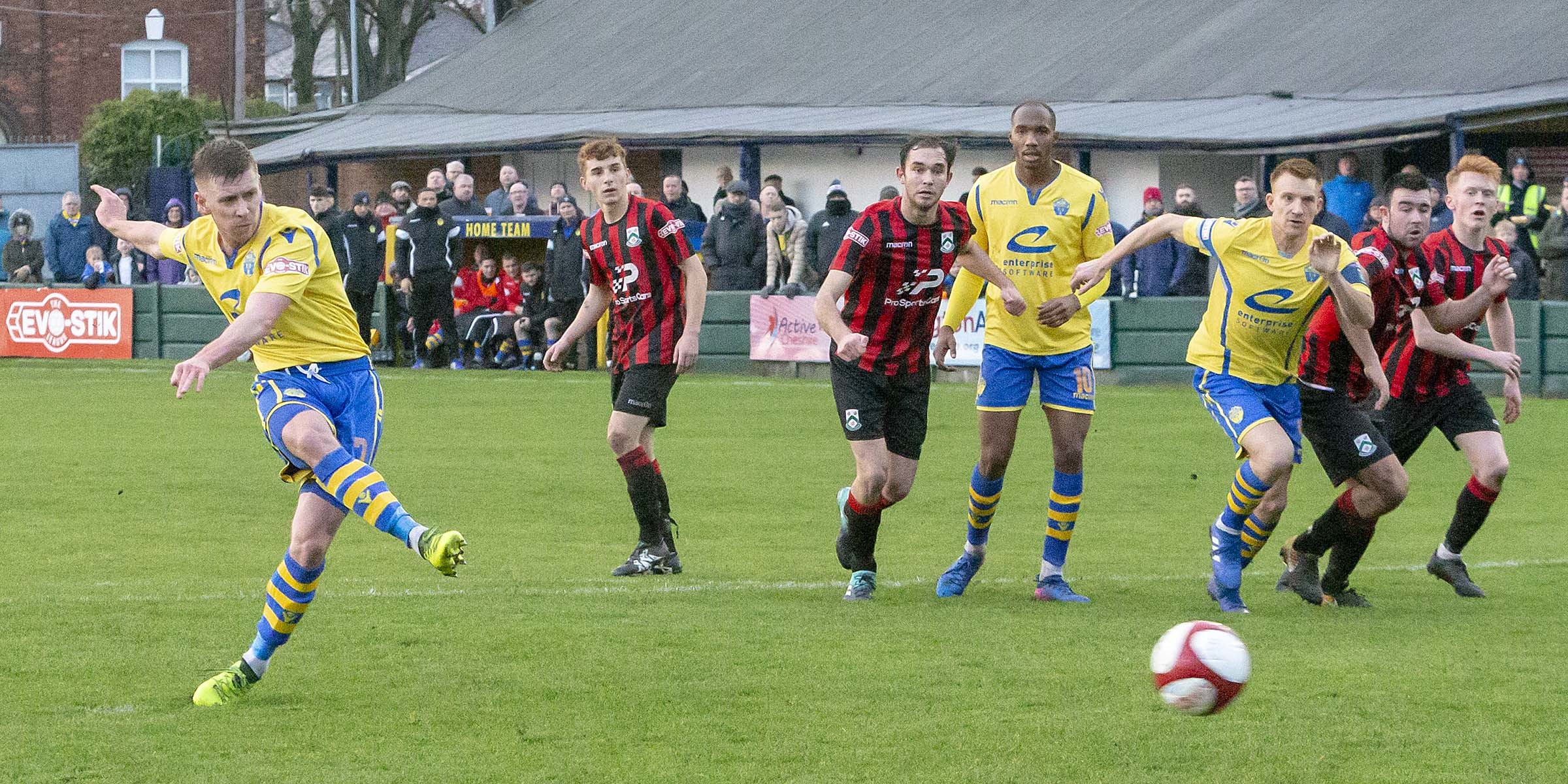 Jack Mackreth has scored 10 goals for Warrington Town this season. Picture by John Hopkins