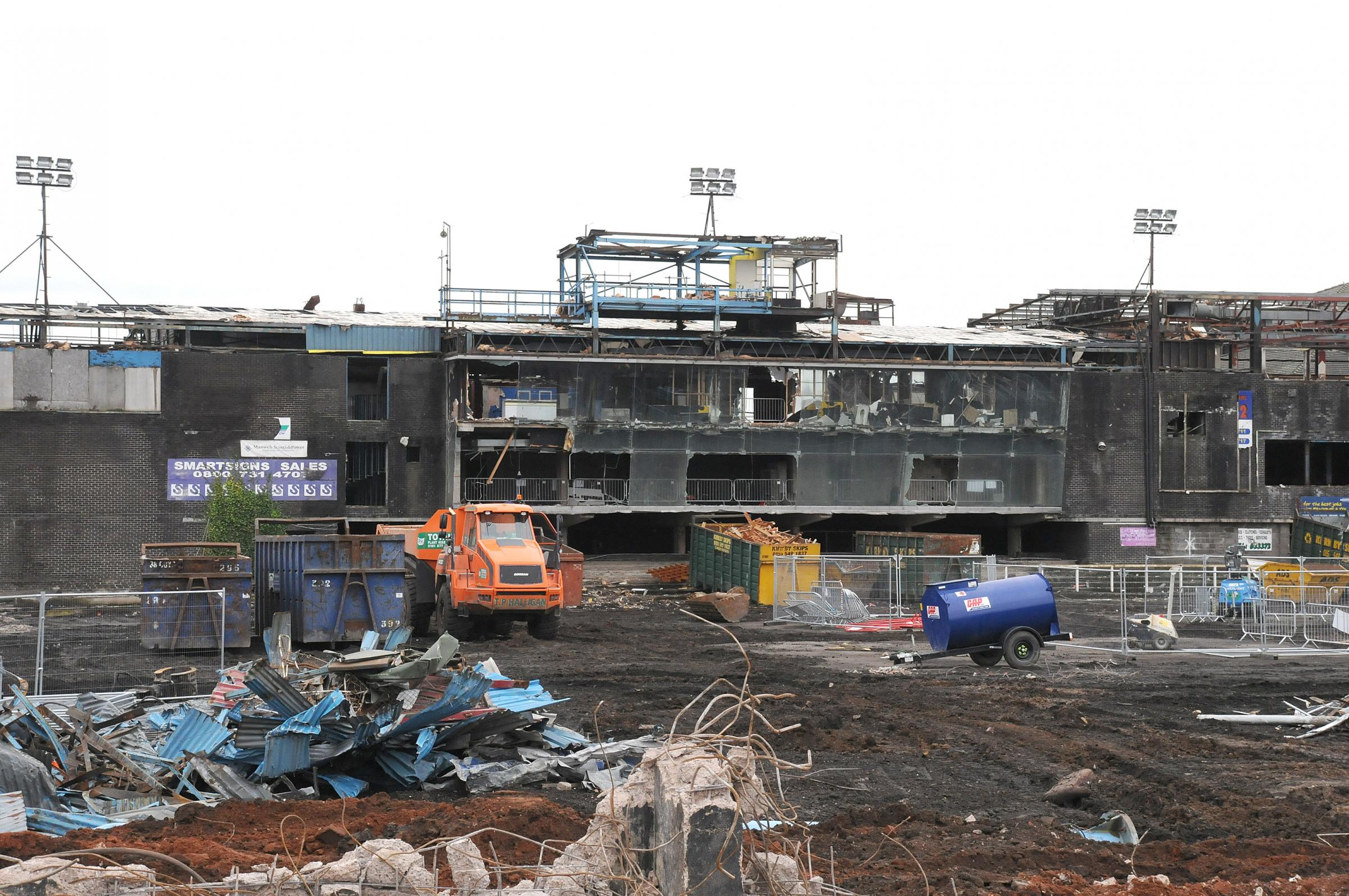 The demolition of Wilderspool in 2014