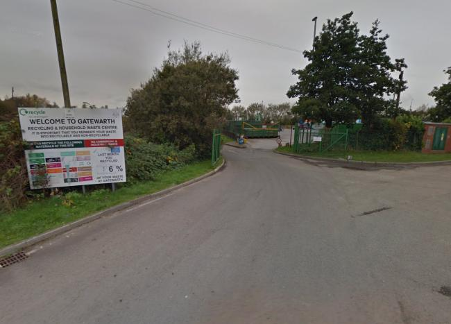 Gatewarth Community Recycling Centre was shut by a gas leak this lunchtime. Picture by Google Maps.