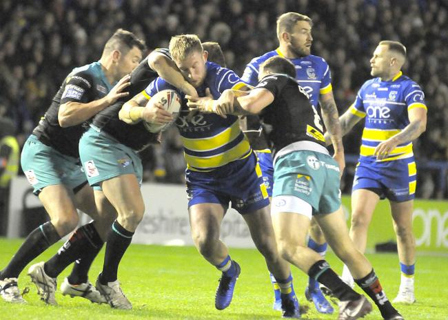 Mike Cooper and the rest of the forward pack laid an excellent foundation against Leeds Rhinos. Picture by Mike Boden