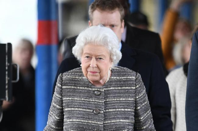 The Queen arrives at King's Lynn railway station