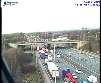 Three cars have been involved in a crash on the M6 northbound.