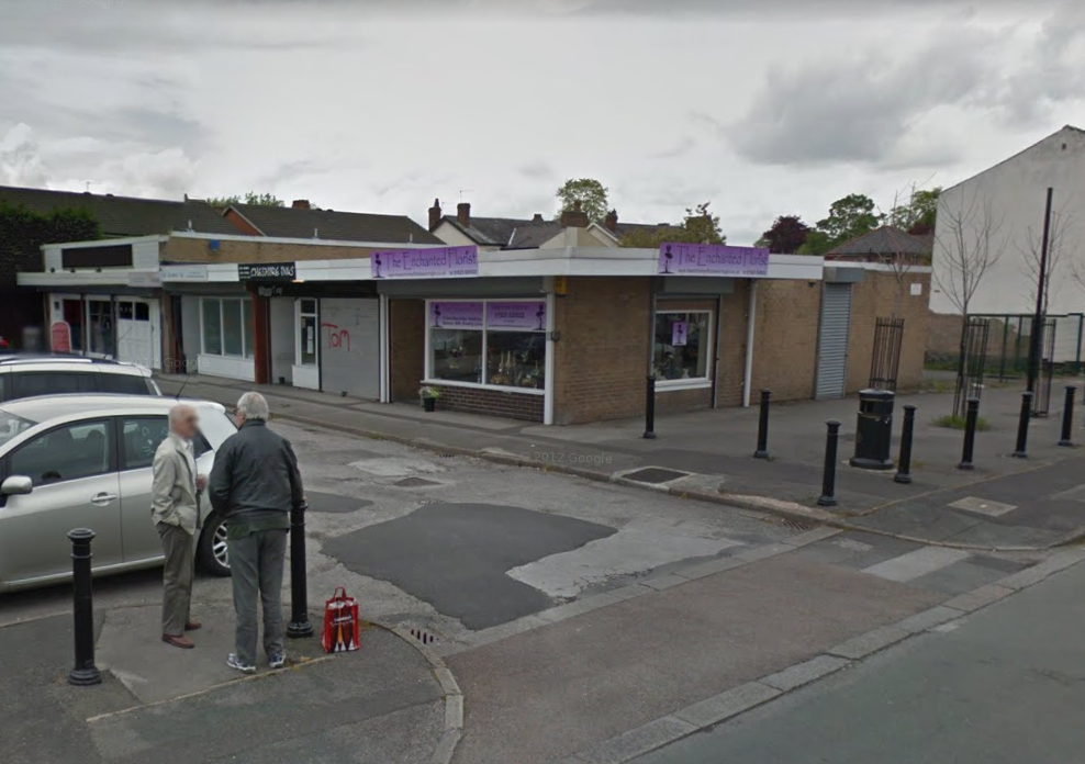 The row of shops on Orchard Street could be demolished to make way for housing. Picture by Google Maps.