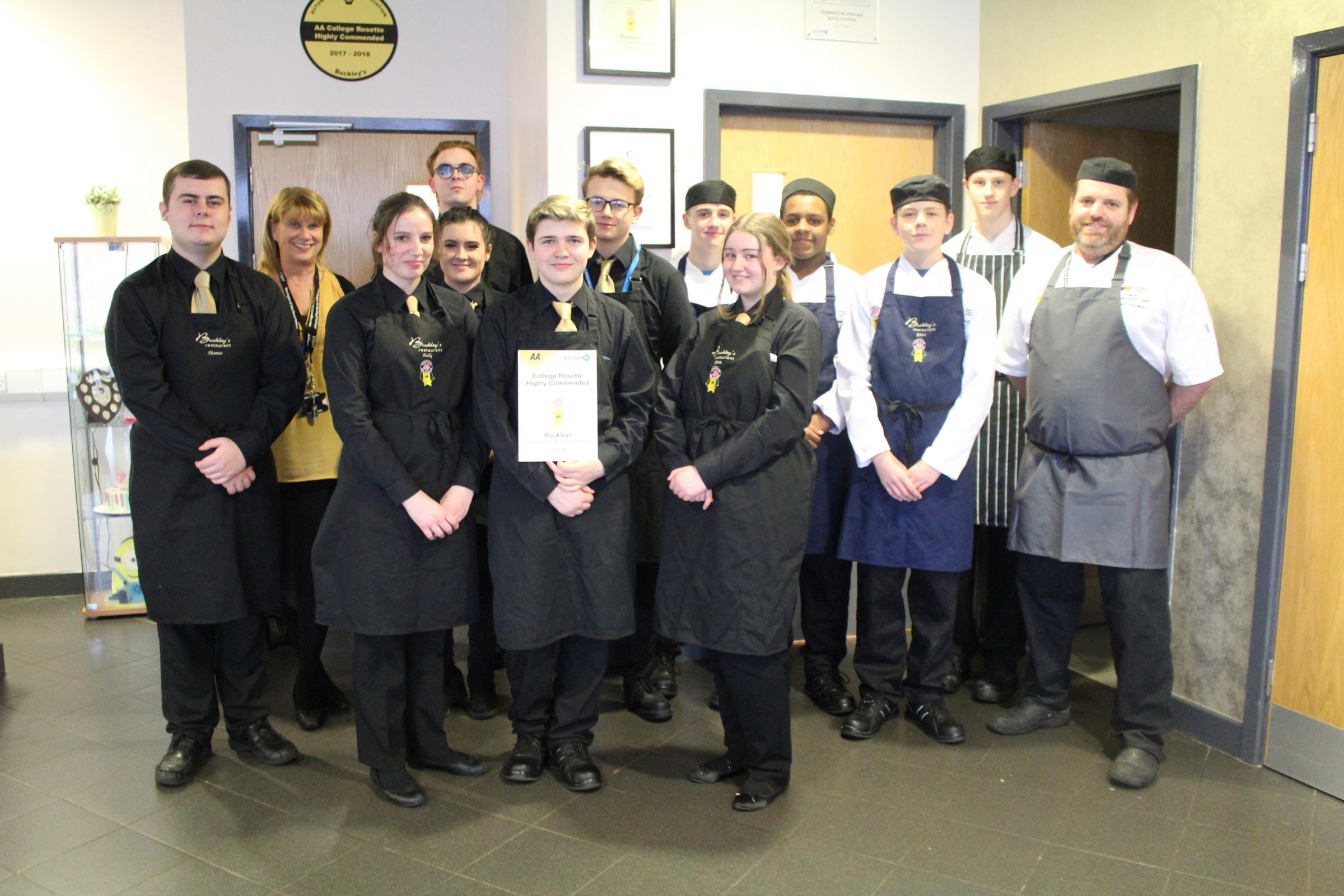 Fine dining college restaurant retains top rating