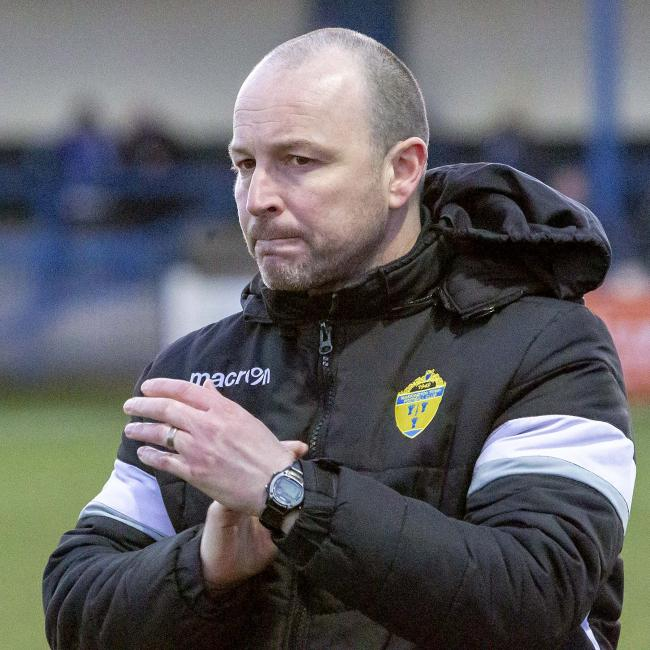 Paul Carden extends his stay as manager of Warrington Town. Picture: John Hopkins
