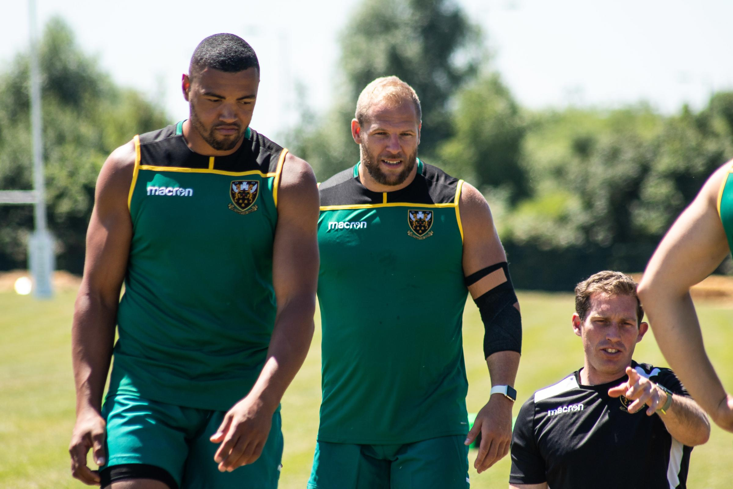 Luther Burrell, left, has 15 caps for England in rugby union. Picture by Roberto Payne/Northampton Saints