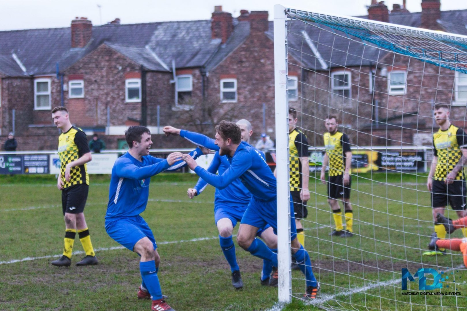 Chris Francis celebrates scoring Rylands' winner against St Martins on Saturday. Picture by Lee Wolstencroft