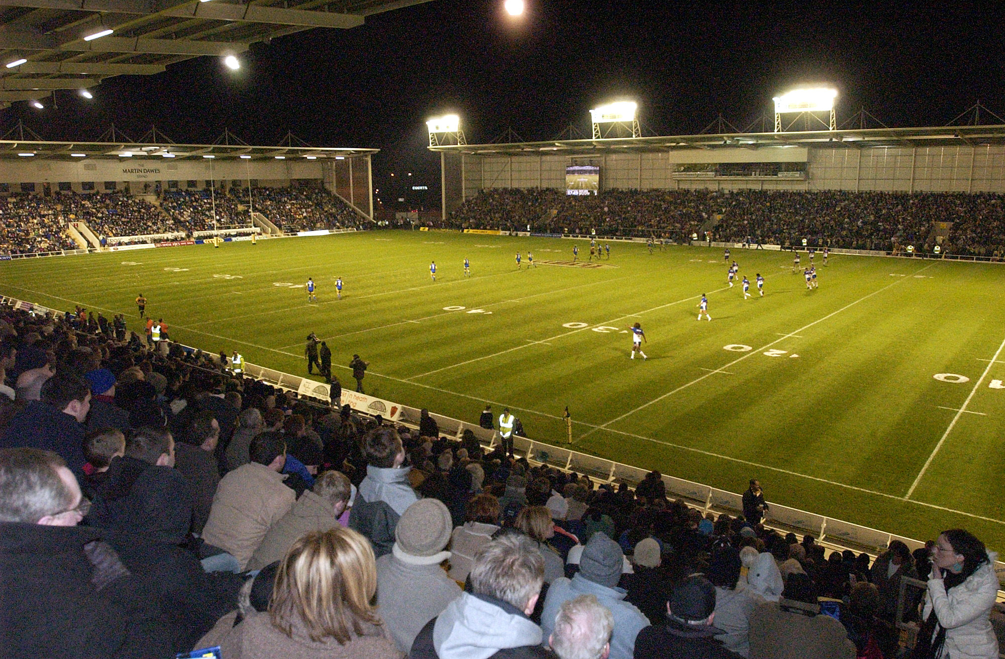 Wolves' first match in the new den on February 21, 2004. The view from the North Stand