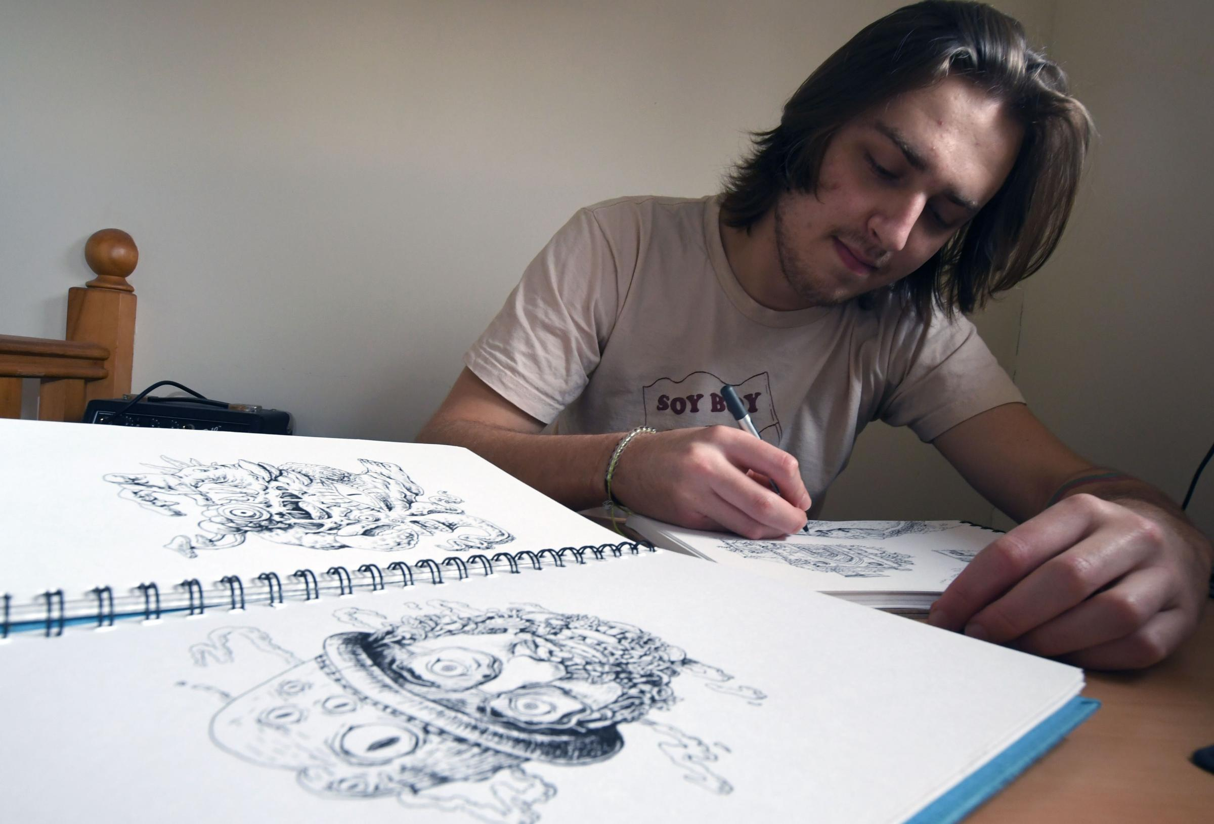 In the studio with 'Eaten Alive' artist Chris Monaghan