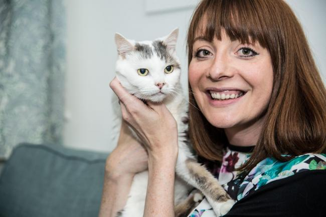 Have you got the most marvellous moggy? Last year's winning cat Theo with owner Charlotte Dixon