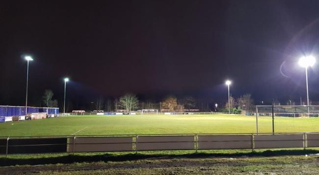 Gorsey Lane will host its first game under floodlights on Friday. Picture by Rylands FC