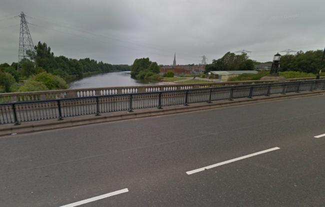 The Mersey from Kingsway Bridge, near to where the man's body was found this morning. Picture by Google Maps.