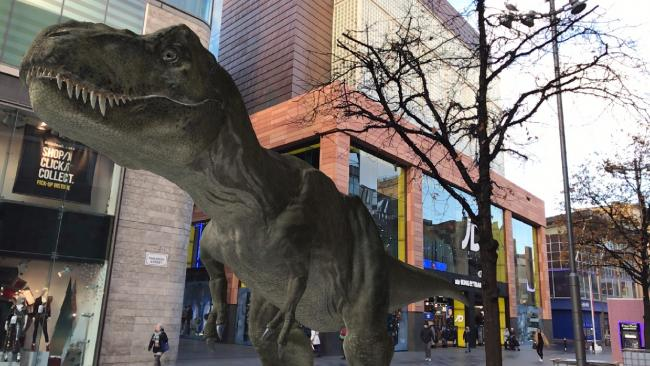 It's your last chance this week to see the dinosaurs at Liverpool One