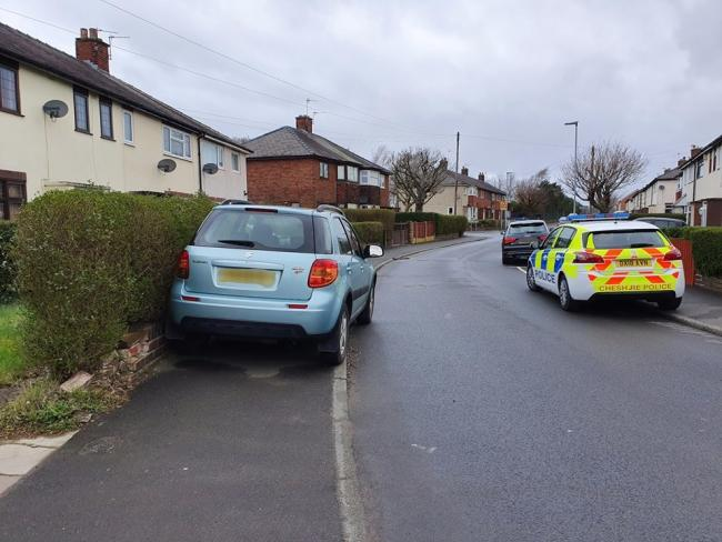 Police officers fined this car in Bewsey. Pic credit: Bewsey and Whitecross Police