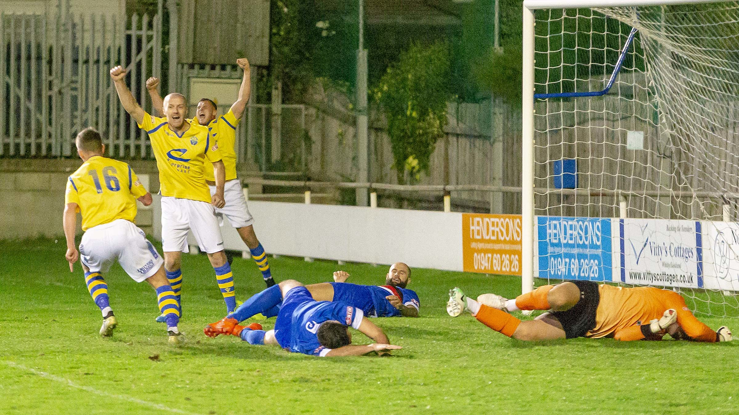 Action from Warrington Town's game at Whitby Town earlier this season. Picture: John Hopkins