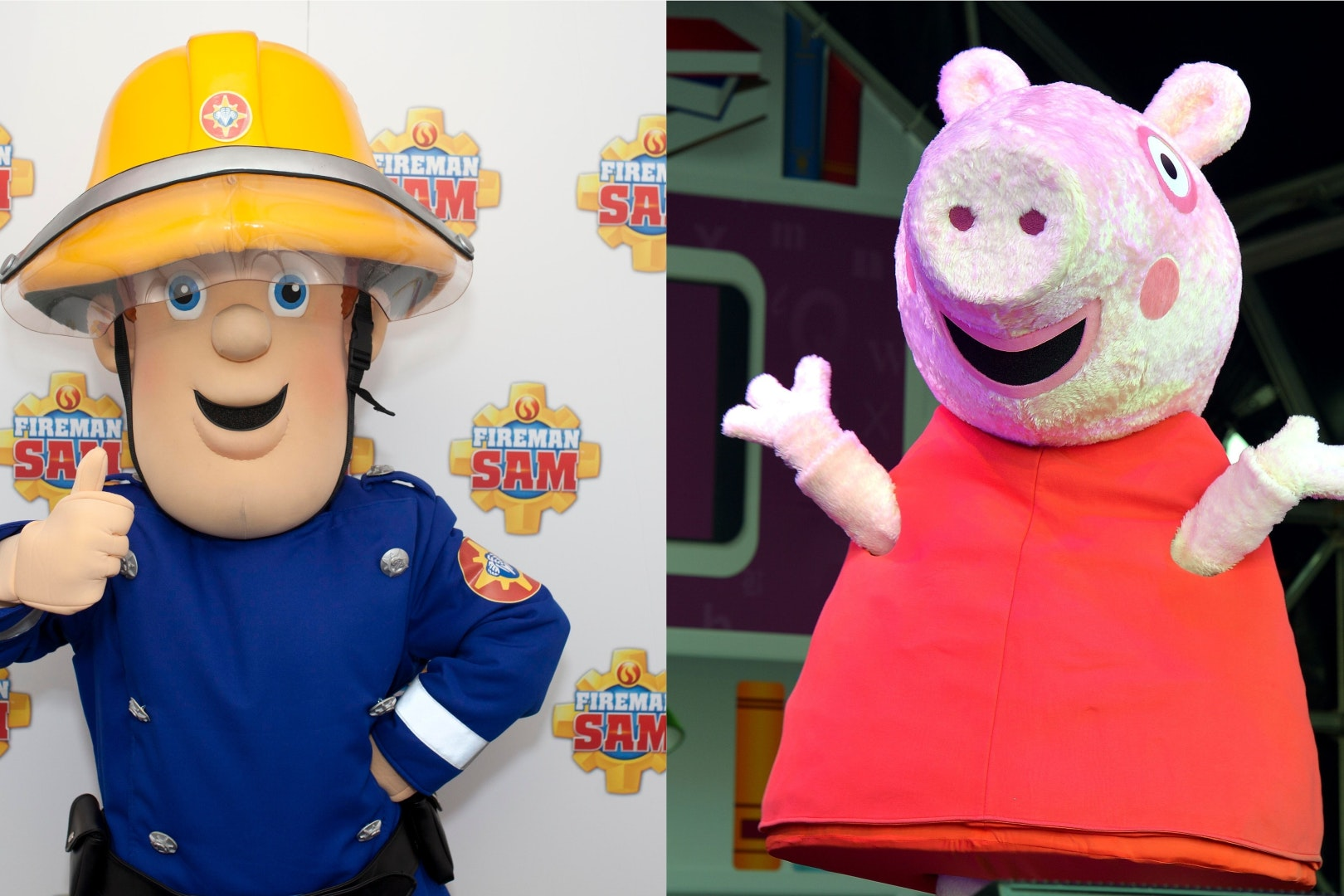 Fireman Sam and Peppa Pig