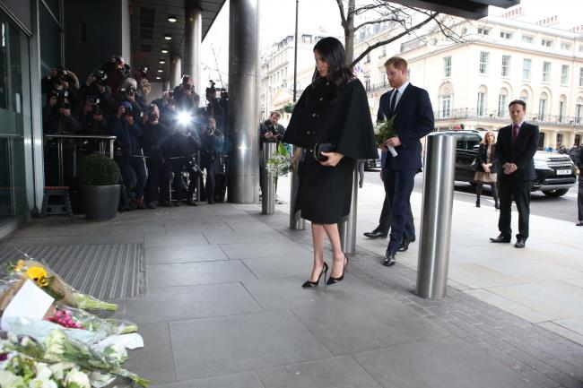 The Duke and Duchess of Sussex arrive at New Zealand House in London