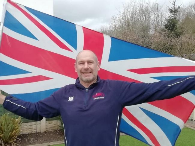 Simon Ince, captain of Great Britain over 50s touch rugby team