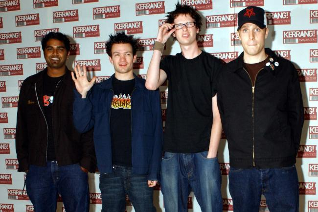 Sum 41 arriving at the Hilton Park Lane Hotel in London for the Kerrang! Awards