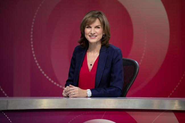 Fiona Bruce on the set of Question Time as she takes over as host for the programme. Picture: PA Wire