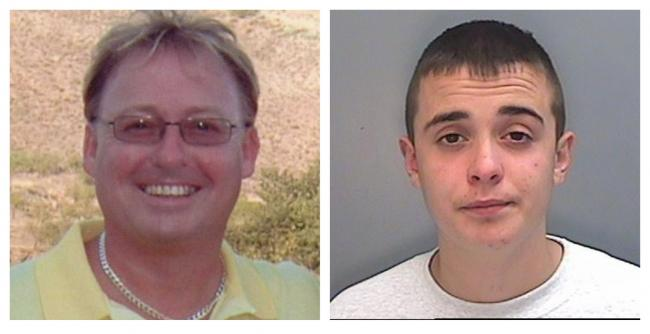 Jordan Cunliffe, right, was convicted of murdering Garry Newlove, left, in 2008.