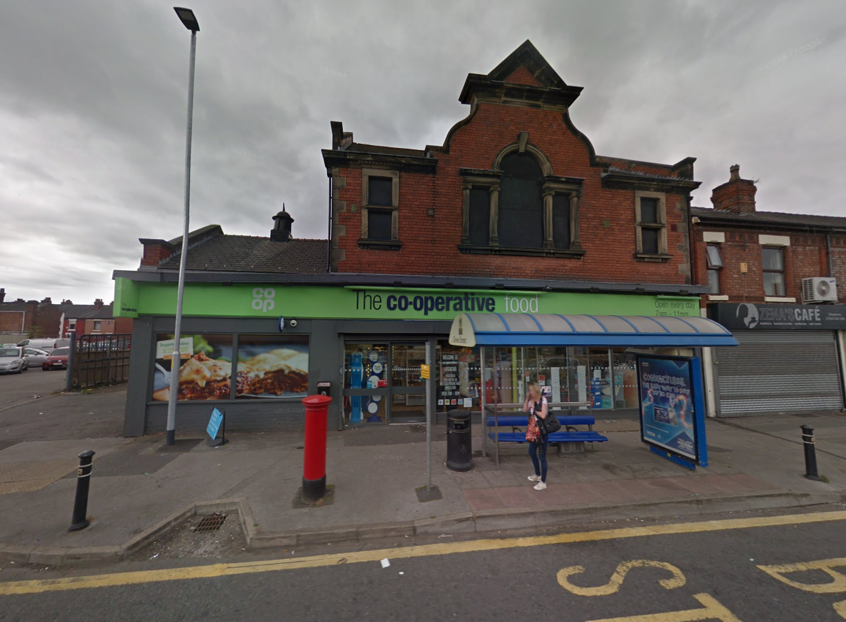 A man was robbed at knifepoint near to the Co-op on Knutsford Road. Picture by Google Maps.