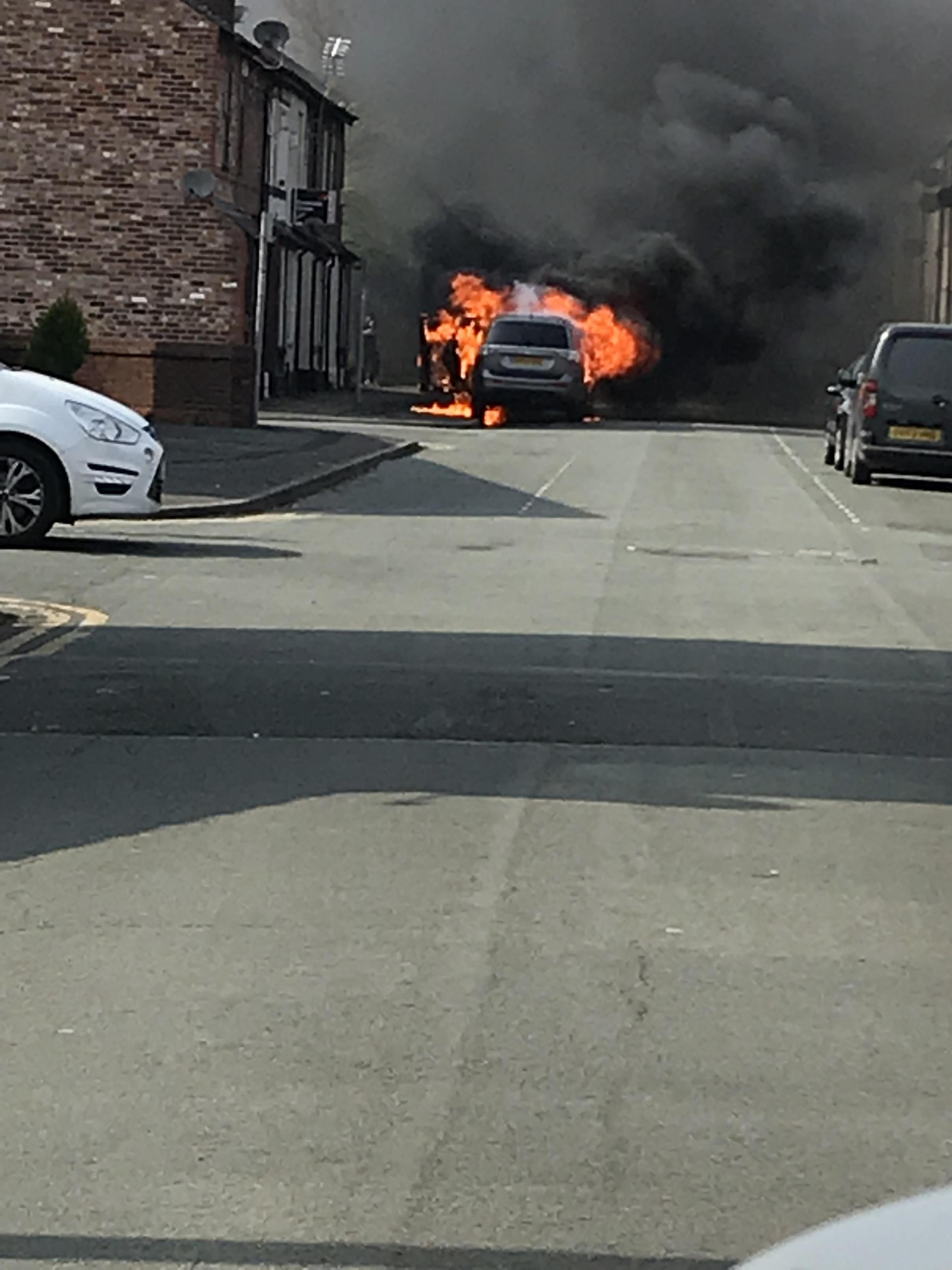 The fire took place on Sharp Street in Warrington