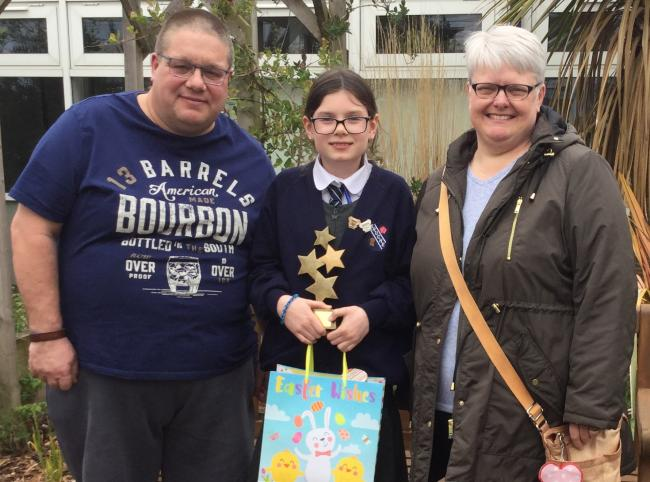 Sienna Truelove was given the Eve Shepherd Award by the late teenager's parents Mark and Jane.