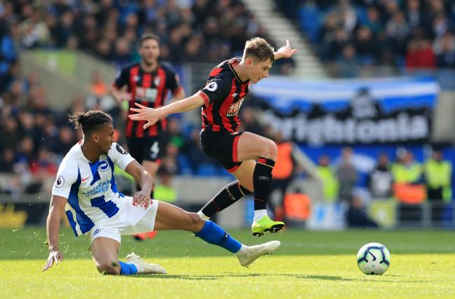 David Brooks in action for Bournemouth against Brighton. Picture by Gareth Fuller/PA Wire