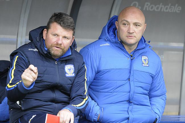 Paul Anderson with first-team assistant Lee Briers. Picture by Mike Boden