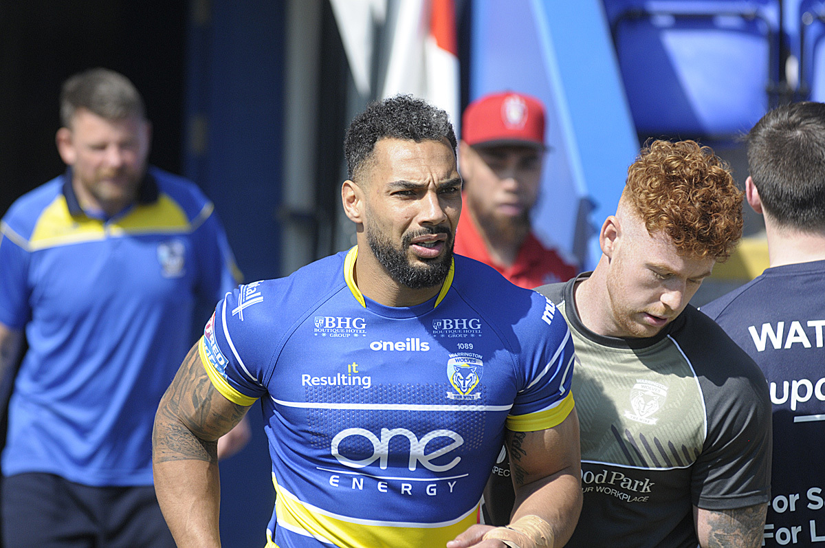 Ryan Atkins has been linked with a move away from Warrington Wolves. Picture by Mike Boden