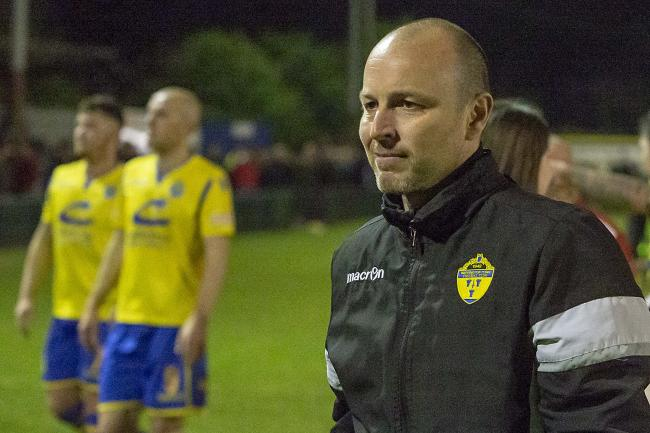 Paul Carden following the play-off victory over Nantwich Town. Picture by John Hopkins