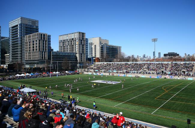 Toronto Wolfpack's home ground, the Lamport Stadium. Picture; SWpix.com