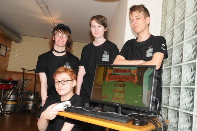 Pyramid  Priestley game Students are presenting their finished games to industry insiders and professional game developers   Slime mouse.