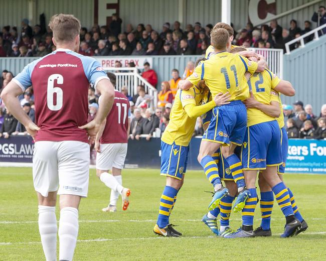 Josh Amis scored a late winner for Yellows at South Shields. Picture by John Hopkins