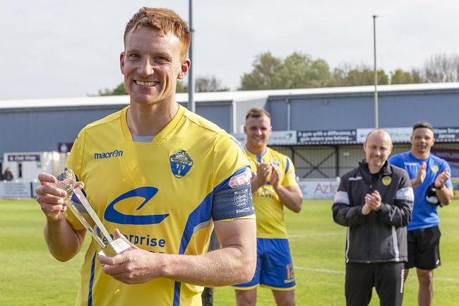 Mark Roberts led Warrington Town to victory in the divisional play-offs last season. Picture by John Hopkins