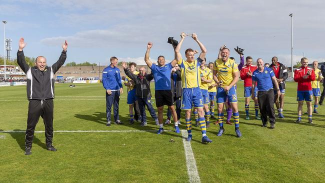 Yellows' last trip to South Shields saw them memorably beat the Mariners 2-1 in last season's divisional play-off final. Picture by John Hopkins