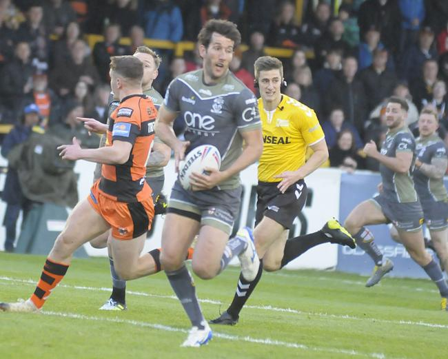 Stefan Ratchford kicked five goals against Castleford. Picture by Mike Boden