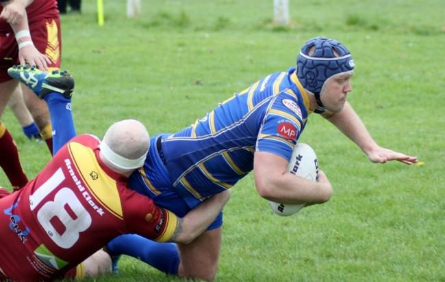 Jack Reid scored twice for Crosfields in their defeat at Wigan St Judes